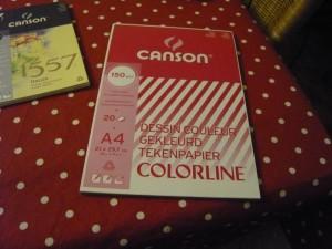 Bloc de papier Canson coloré