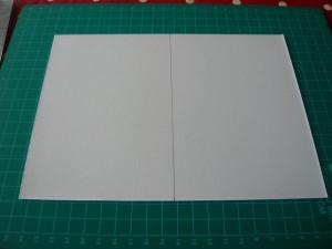 Page support non pliée